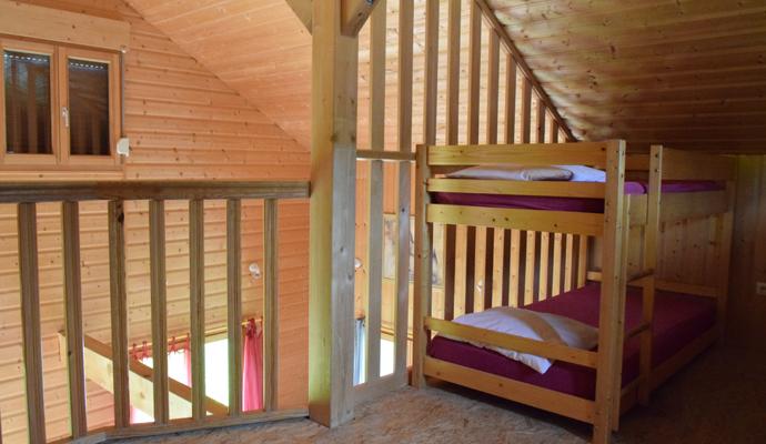 Chalets avec lits superposés